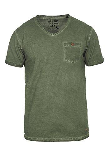!Solid Tinny Herren T-Shirt Kurzarm Shirt mit V-Ausschnitt aus 100{b1700e1b3f2f015ab4eebf58241f4624919f77e1d8b4a88106780106eff9618c} Baumwolle, Größe:L, Farbe:Climb Ivy (3785)