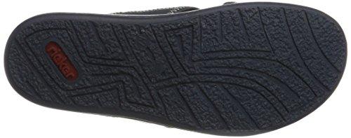 Rieker Herren 21053 Pantoletten Blau (denim/rot/denim/amaretto / 15)