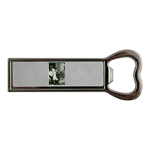 Image of Stainless steel bottle opener and fridge magnet with Ann-Mari Tengbom and Otto Christian Archibald, Prince von Bismarck, wedding. 1928.