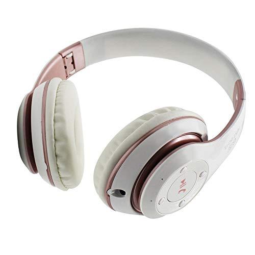Huihuiya Universal-Super-Bass-Wireless-Bluetooth-Over-Ear-Gaming-Headset-Spiel-Kopfhörer-Weiß & Rosa