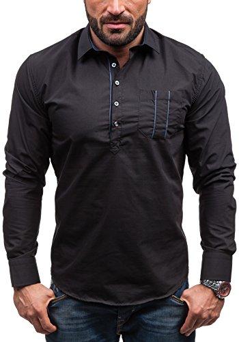 BOLF - Chemise casual - à manches longues – BOLF 5791 - Homme Noir