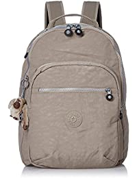Kipling CLAS SEOUL School Backpack, 45 cm, 25 liters, Grey (Warm Grey)