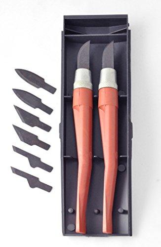 10 pièces multi-lames Kit composé de 2 supports avec 8 lames différentes dans un étui en plastique