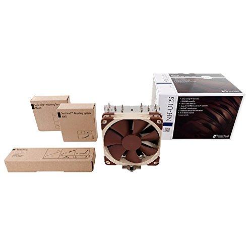 Noctua NH-U12S - Ventilador de PC (Enfriador, Procesador, 12 cm, Marrón, Acero inoxidable, 0.6W, 12V)
