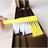 Rachees Multipurpose Cleaning Brush with Dust Dirt Scraper - for Sliding Windows Track