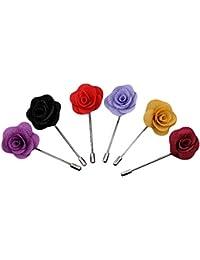 Hosaire 6 Piezas Broche De Solapa Flor Hechos A Manos Floral Boutonniere Regalo Para Traje Hombre