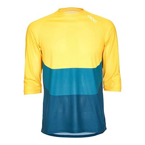POC Herren Essential Enduro 3/4 Light Jersey, Sulphite Multi Yellow, MED
