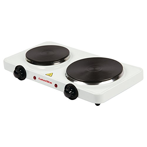 41RbGT0SUFL. SS500  - Caterlite Electric Countertop Boiling Rings Double 67X460X270mm Kitchen