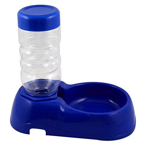 Welim - Dispensador de bebidas para mascotas, fuente de agua, fuente de agua automática, conveniente y simple, apto para perros y gatos, color azul