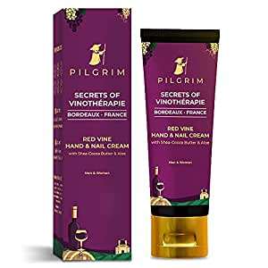 Pilgrim Red Vine Hand And Nail Cream with Cocoa & Shea Butter for Rough Hands, Dry Skin, Brittle Nails, Men And Women, Girls, 30g