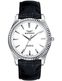 Sandoz Classic 81308-00 - Reloj de mujer, de acero , con correa de piel color negro, con cristal de zafiro y maquinaria Suiza.