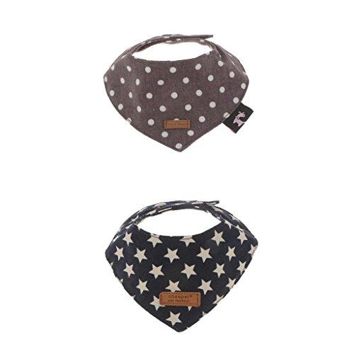 Homyl 2pcs Hundehalstuch Dreieckstuch Katzenhalsband Haustier Halsband Halstuch für Hunde Katze und Welpen - Grau + Blau, M