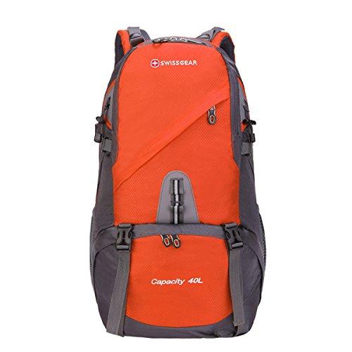BULAGE Taschen Wandern Bergsteigen Freizeit Natur Reisen Camping Backpacking Mit Hohen Kapazität Wasserdicht Taschen Studenten Sport Orange