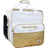 Brubaker \'St. Moritz\' - Bolsa de Deporte - Mochila para Botas de esquí + Casco + Accesorios - Color Blanco/Dorado