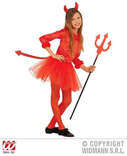 Sancto Teufel-Set Mädchen-Teufelkostüm rot 140 (8-10 ()