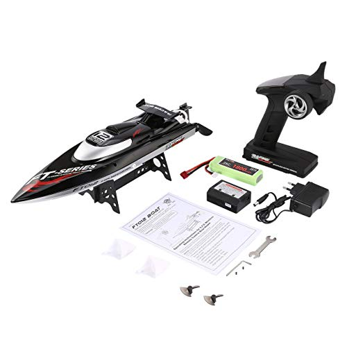 Elviray Feilun FT012 2.4G RC Boot 45km / h High Speed   Rennboot Schnellboot Schiff mit Brushless Motor Wasser Kühlsystem Flipped RTR -