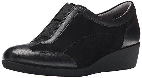 Clarks Petula Viola piatto Black Suede/Leather