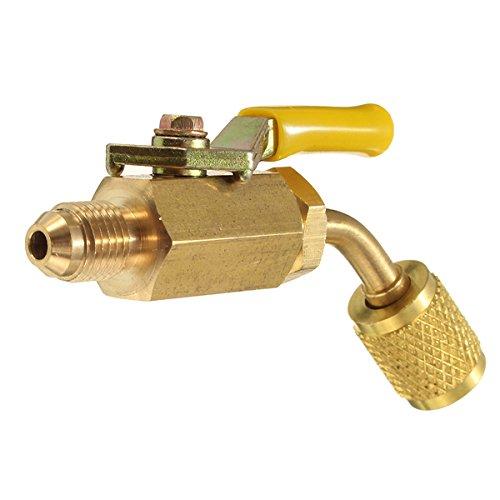 KUNSE Messing Ventil Für A/C Schläuche Hlk 1/4 Inch Ac Kältemittel R410A R134A Laden Geschlossen (Service-tool Hlk)
