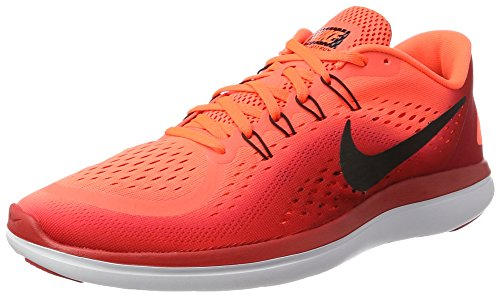 Nike Herren Men's Nike Free Rn Sense Running Shoe Laufschuhe Mehrfarbig (Hyper Orange/Black-University Red-White)