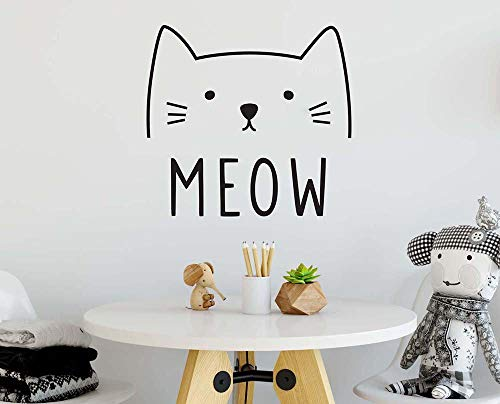 Autocollant Mural Bande Dessinée Chat Sticker Mignon Animal Animalerie Boutique Sticker Chambre Salon Canapé Vinyle Décor À La Maison
