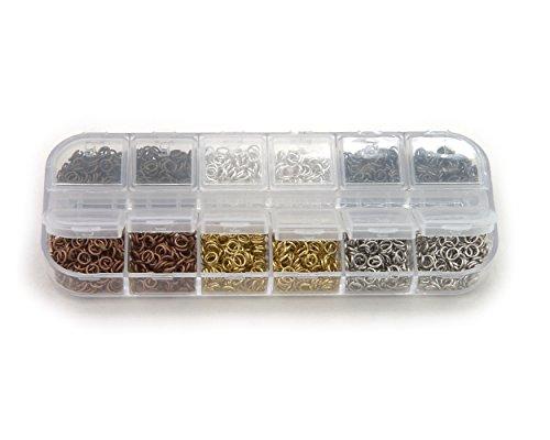 Binderinge Set 4 mm Durchmesser 6 Farben ca.9g je Farbe Biegeringe Farben: Gold / Silber /Schwarz /...
