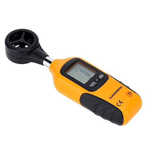 Digital Anemometer Wind Speed Meter Air Flow Tragbares Velocity Temperatur Messgerät Tester tht-81 - Digital Air-flow-meter