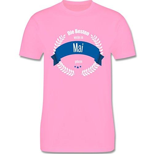Geburtstag - Die Besten werden im Mai geboren - Herren Premium T-Shirt Rosa