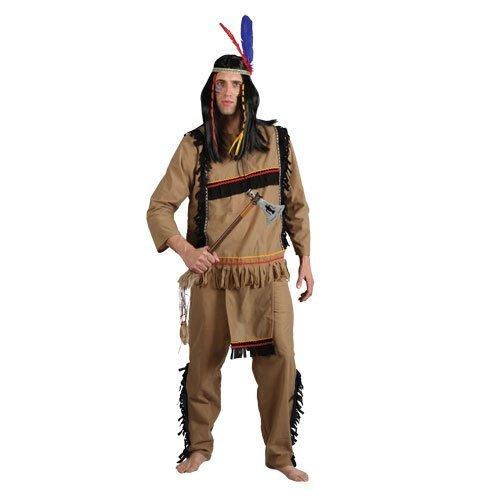 (L) Herren Tapferen Indian Krieger Kostüm für Cowboys Indianer Kostüm Herren Herren ()