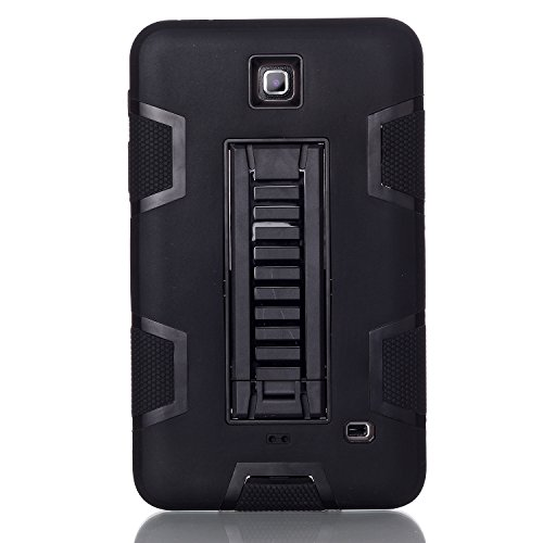 all, beimu 3 in 1 Combo Hybrid Heavy Duty Armor Fullbody Rugged Defender Schutzhülle Stand Case für Samsung Galaxy Tab 4 7.0 T230/T231/T235 All Black ()
