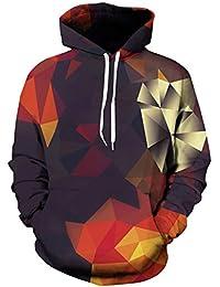 Goodstoworld Unisex 3D Druck Hoodie Kapuzenpullover Bunt Langarm Pullover Sweatshirt