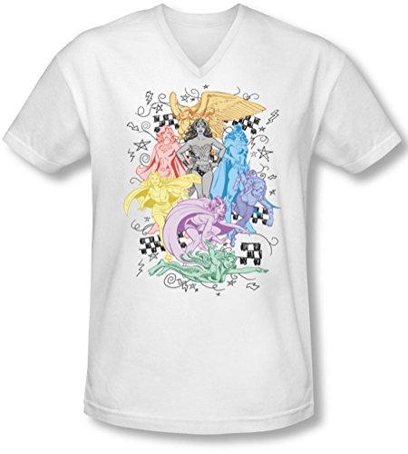 Dc - Herren Super-V-Neck T-Shirt White