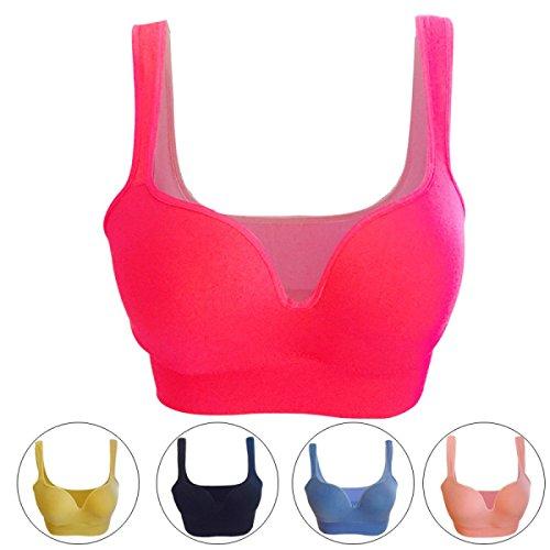 JFIN Forme De Femme U Soutien-gorge De Sport Coton Underwire Bounce Flesh Color Pro Indy Blue