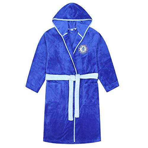 Chelsea FC - Herren Fleece-Bademantel mit Kapuze - Offizielles Merchandise - Geschenk für Fußballfans - L