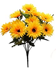 Fourwalls Beautiful Decorative Artificial Garabara Flower Bunches for Home décor