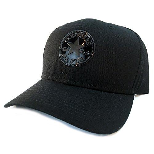 Converse Ripstop Curved Snapback Cap - Black