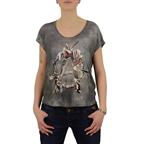 Religion Clothing Damen Oversize Top Riot vintage grau - XS