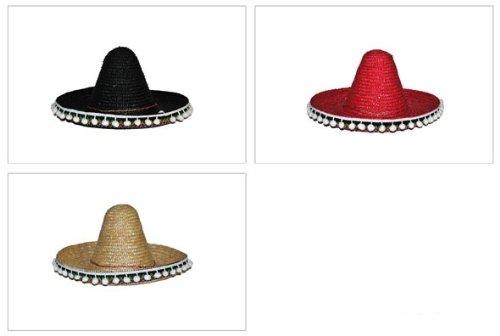 Sombrero Mexikaner 45 cm Rot - Toller Hut zum Mexiko (Rote Kostüm Hut)