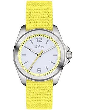 s.Oliver Unisex-Armbanduhr Analog Quarz Textil SO-3231-LQ