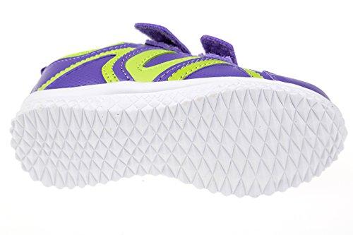 Gibra ® enfant avec fermeture velcro violet/vert fluo taille 25–36 Violet - lila/neongrün