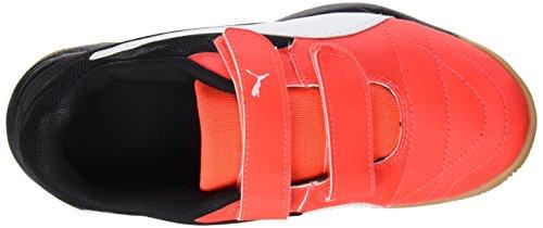 Puma Veloz Indoor Iii V Jr, Chaussures de Fitness Mixte Enfant Rouge - Rot (Red blast-White-Black 01)