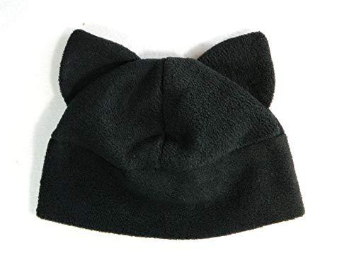 Kostüm Buchmesse - Katzenohren Mütze schwarz Gothic Punk Rock