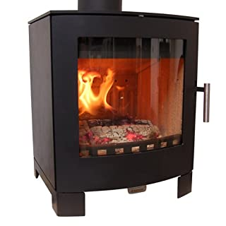 Aduro 16 5kW Black Contemporary Wood Burning Stove DEFRA Approved