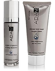 ADAM REVOLUTION Kit pour homme : Soin Hydratant Visage Oxygène, 50 ml + Crème Régénérante pour Mains Oxygène, 100 ml