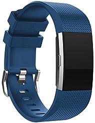 Fitbit Charge 2 Bracelet,Sugou Sport de mode bracelet en silicone Band