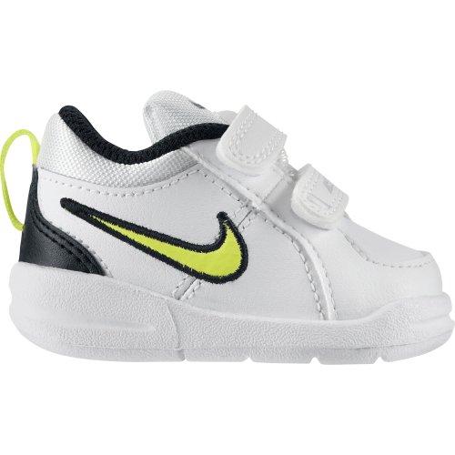 Nike  Pico 4 (TDV), {Chaussures premiers pas pour bébé (garçon) blanc Blanc / Noir / Jaune