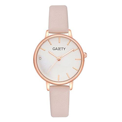 Yesiidor Armbanduhr Damen Frauen Classic Ultraflache Uhr Edelstahl Uhren