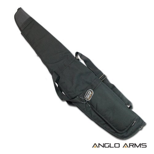 Anglo Arms - Luxus Schwarze Gepolsterte Gewehr Schrotflinte Schutzhülle Länger für Schalldämpfer