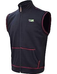 RDX Gilet Polaire Zippée Veste Course Sans Manche Bodywarmer Sport Entrainement Jogging Musculation Randonnée