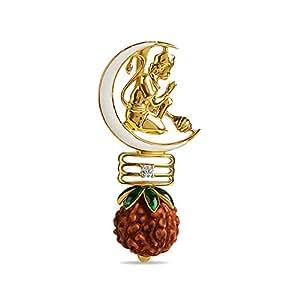 ORRA Sarvakamada Rudraksha 18k Yellow Gold Pendant