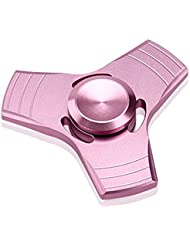 GGG Hand Spinner Fidget juguete, ADHD ansiedad autismo reducción de estrés Fidget mano Tri Spinner EDC juguete color rosa y oro